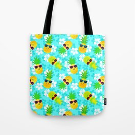 Funny Summer Tropical Pineapples Tote Bag
