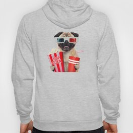 Pug watching a movie Hoody