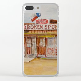 The Broken Spoke - Austin's Legendary Honky-Tonk Watercolor Painting Clear iPhone Case