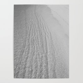 Water Shore (Black and White) Poster
