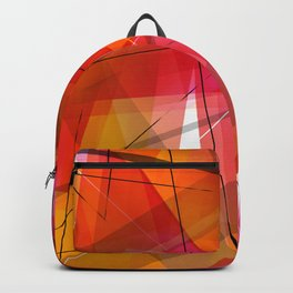 Transparent Shapes Warm Colorful Geometric Abstract Art Backpack