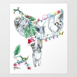 Slothmas Art Print