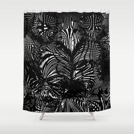 black stripes chaos Shower Curtain