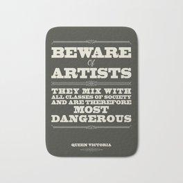 Beware of Artists Bath Mat