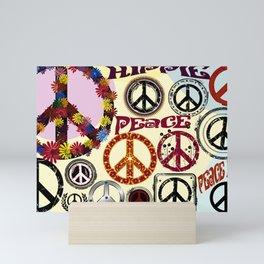 Flower Power Peace Signs Coctail Mini Art Print