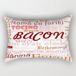 50 words for Bacon Rectangular Pillow