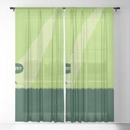 WTF? Ovni! Sheer Curtain