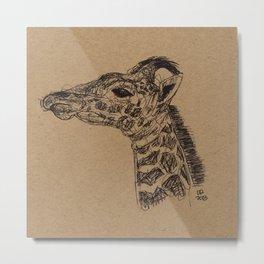 Geraldine Giraffe Metal Print