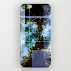 forest memories Abstract Blue Fire iPhone & iPod Skin