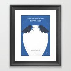 No744 My Happy Feet minimal movie poster Framed Art Print