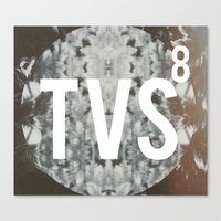 tv Canvas Prints featuring TVS 8 by Traveler of the Vibe & Sound