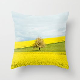 One Tree Hill landscape photograph Throw Pillow