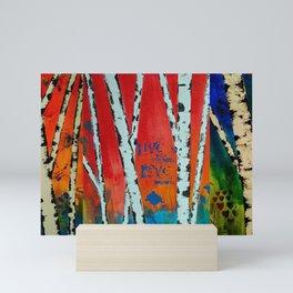 Birch Tree Stitch Mini Art Print