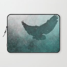 Owl Silhouette   Swooping Owl Ghost   Space Owl Laptop Sleeve