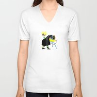 photographer V-neck T-shirts featuring Photographer by Design4u Studio