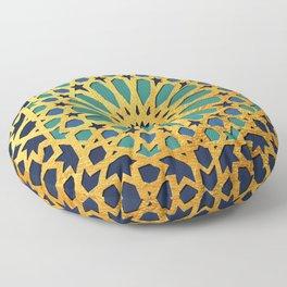 -A1_2- Golden Original Traditional Moroccan Artwork. Floor Pillow