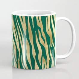 Golden Zebra Stripes Pattern Coffee Mug