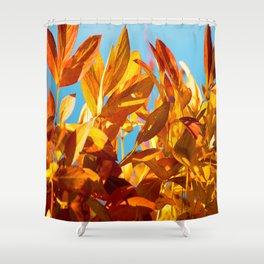 Autumn colors leaves against the blue sky #decor #society6 Shower Curtain