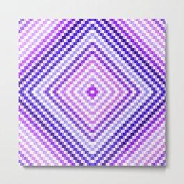 Purple Pixel Diamond Metal Print
