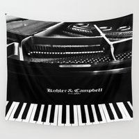 piano Wall Tapestries featuring Piano  by Jessica Tuccinardi
