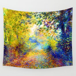Renoir In the Woods Wall Tapestry