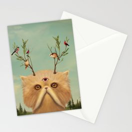 Bastet, Cat Deity - patron of the forest & animals Stationery Cards
