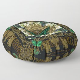 Baroque Butterflies Floor Pillow