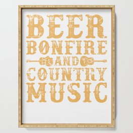 Beer And Music Serving Tray