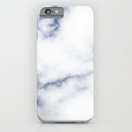 Marble White & Blue iPhone Case