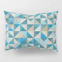 Blue Patchwork Quilt Pillow Sham