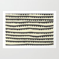 Scalloped Garland Art Print