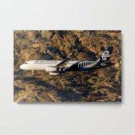 Air New Zealand A320 Queenstown Metal Print