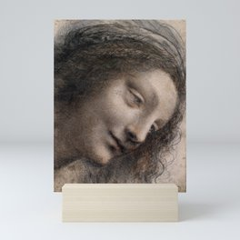 Leonardo da Vinci The Head of the Virgin Mini Art Print