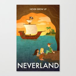 Neverland Poster Canvas Print