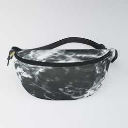 Waves - Black and White Abstract Fanny Pack