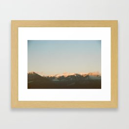 Sunset Over the Canadian Rockies Framed Art Print