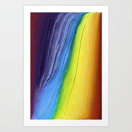 Pixel Sorting 45 Art Print