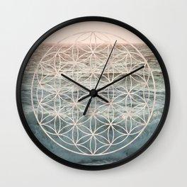 Mandala Flower of Life Sea Wall Clock