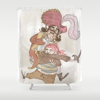 captain hook Shower Curtains featuring Captain Hook by Samantha Kay Davies