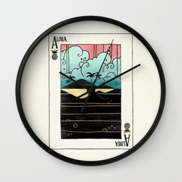 Ace of Aloha Wall Clock