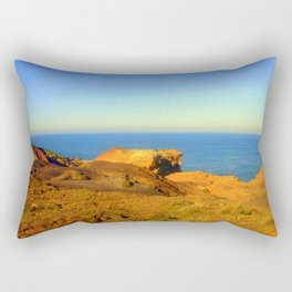 Barren land meets the Ocean Rectangular Pillow