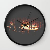 bar Wall Clocks featuring Bar by ONEDAY+GRAPHIC