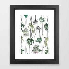 hanging pots pattern Framed Art Print