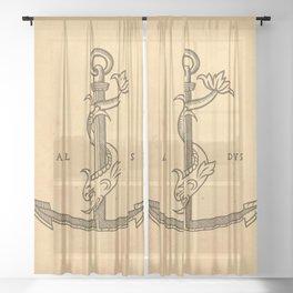 Aldus Manutius Printer Mark Sheer Curtain