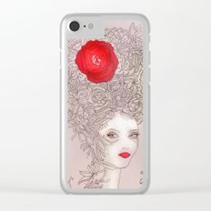 Rose in hair Clear iPhone Case