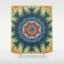 Fractal Medallion Shower Curtain
