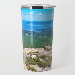 View of Bar Harbor, Maine from Cadillac Mountain (4) Travel Mug