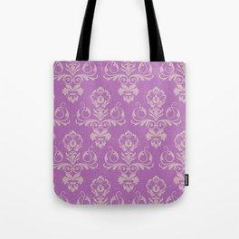 Purple Damask Tote Bag