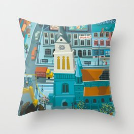 Budapest spring '15 II. Throw Pillow