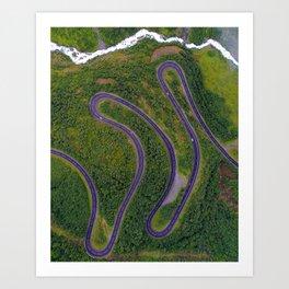 Sinuous road Art Print